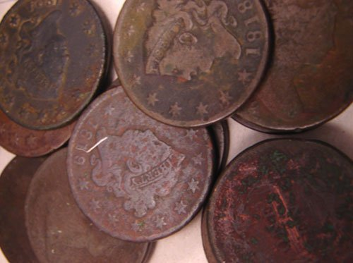 5201: Eleven Early Large Cents: 1794, 98(AG), 1800, 02,