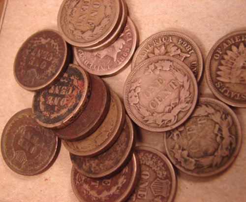 5203: 140 Indian Head Cents mixed: 1880-1909 AG-Fine