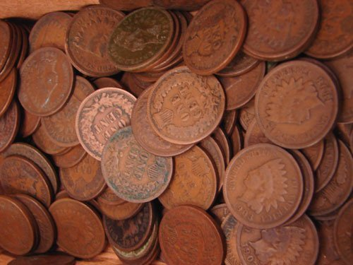 5205: Thirteen Indian Head Cents  1865-1879