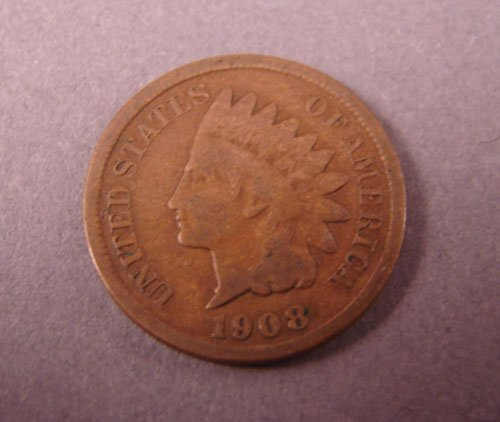 5208: 1908s Indian Head Cent- Good