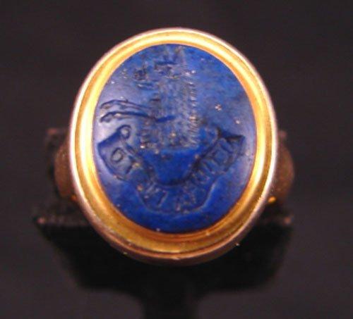 5505: I seek higher things, Altiora Peto Signet Ring