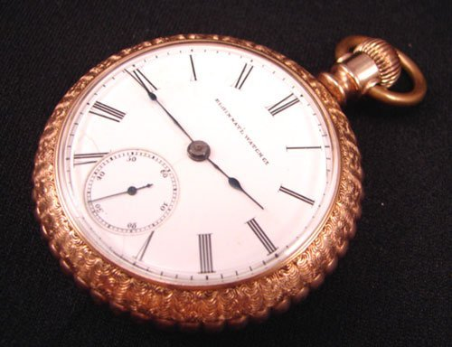 5513: Elgin National Watch Co Men's 14k Yellow Gold Ope