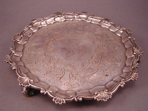 6008: 1851 English Sterling Silver Presentation Salver.