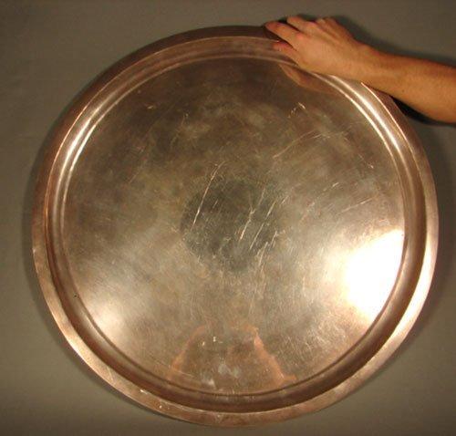 6010: Huge Los Castillo Sterling Silver Wrought Tray