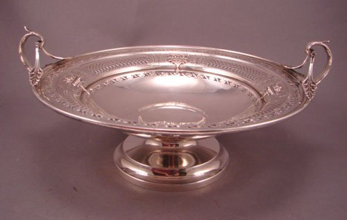 6016: Regency Style Sterling Silver Center Bowl