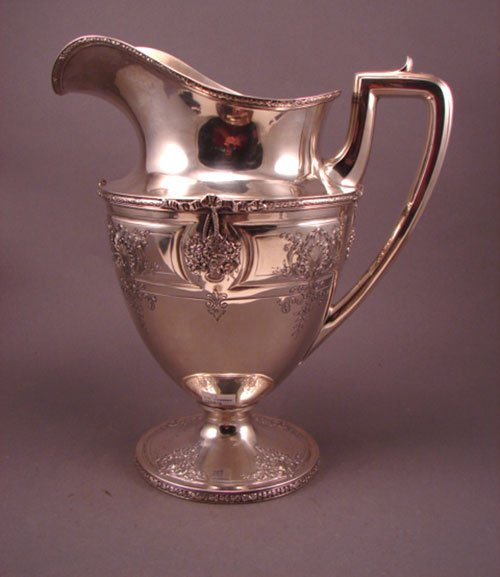 6017: Regency Style Sterling Silver Water Pitcher
