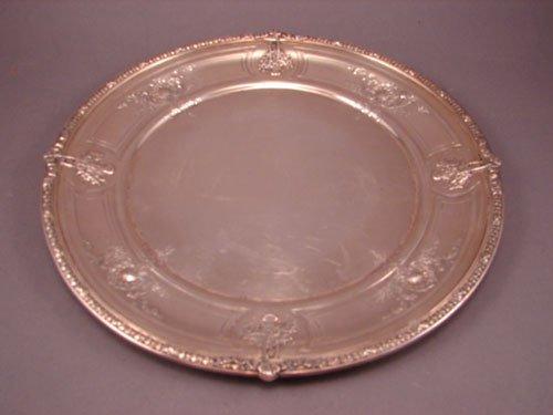 6018: Regency Style Sterling Silver Serving Tray