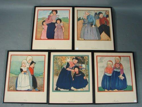 """4: Five Rie Cramer Color Prints including """"Sparkenburg"""""""