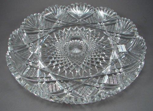 23: American Brilliant Period Rare Fine Cut Glass Ice C