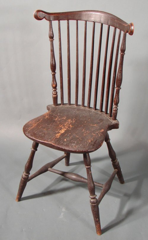 "1121: Antique Windsor chair, American ca. 1790 3'1""h x"