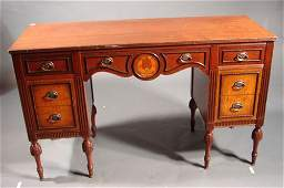 1183 Antique Mahogany and curly maple dressing table m