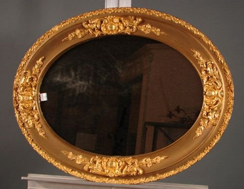 1001: Gilt gesso over wood hanging mirror