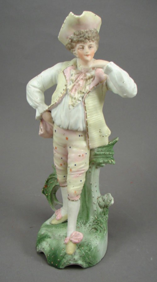 1005: Hand Painted Biscuit Porcelain Figurine of gentle