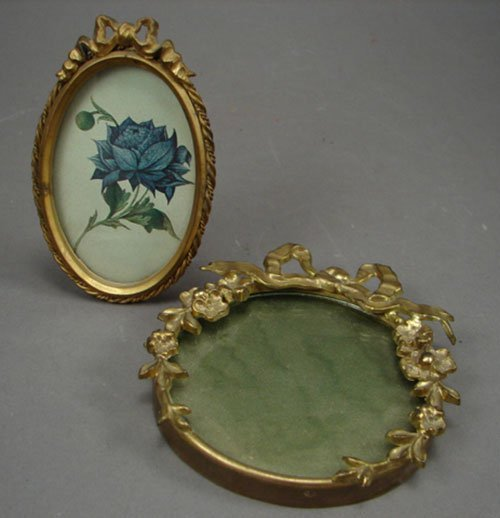 1009: Two Miniature Picture Frames. Both standing, one