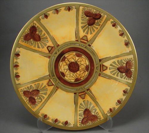 1011: P and P Limoges France Hand Painted Plate / Tray