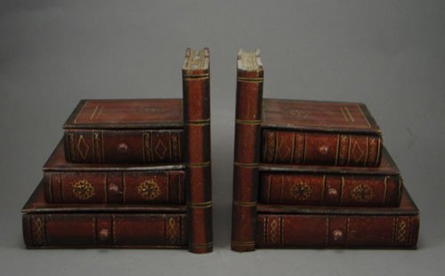 1015: Pair of Figural Bookends with three compartments