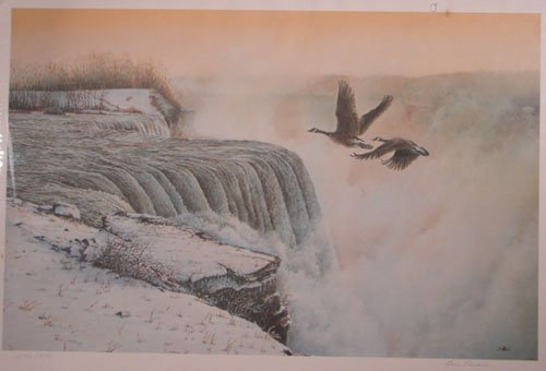 1017: Len Rusin Pencil Signed Print, Limited edition nu