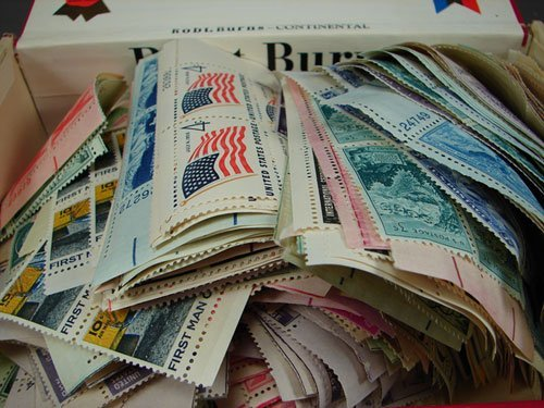 1: Over 600 US Plate Blocks, mixed, face value $100+