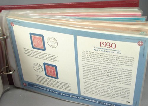 14: Complete set of 1930s Commemorative stamps, mint