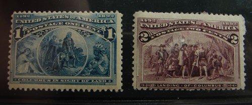 19: US Columbian Issue lot Scott's #230 and #231 MNH fi
