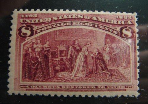 20: US Columbian 8 cent Scott's #236 MNH fine/very fine