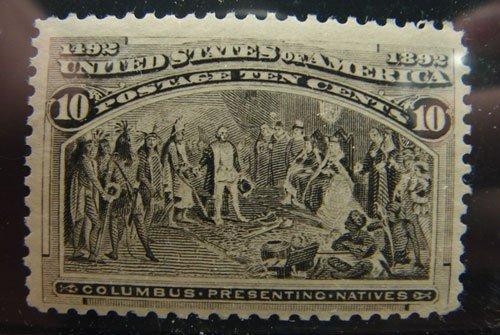 21: US Columbian 10 cent Scott's #237 MNH fine/very fin