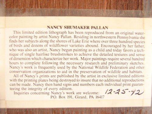 1320: Pair of Nancy Shumaker Pallan Pencil Signed Print - 6