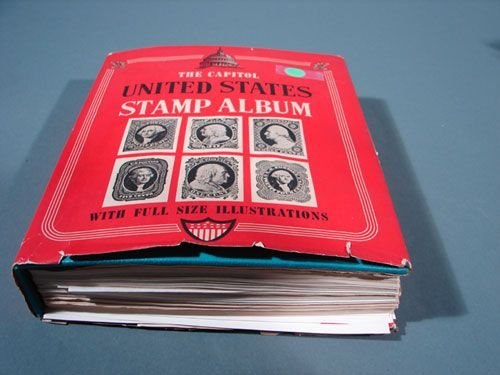 022: US stamp album: canceled and mint mixed