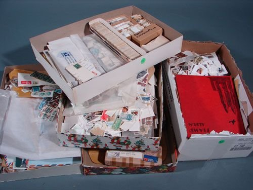 023: Lot of canceled and mint US and foreign stamps