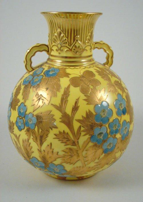 2003: Antique Royal Crown Derby Porcelain Vase with but