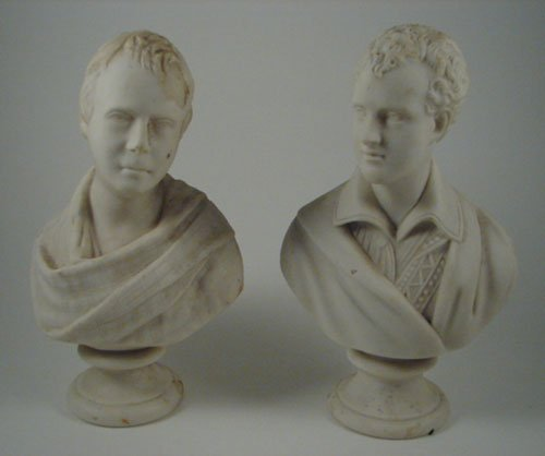 2004: Pair of Biscuit Porcelain Busts / Statues. Very n