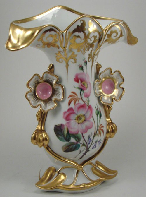 2007: Old Paris type Hand Painted Porcelain Vase with g