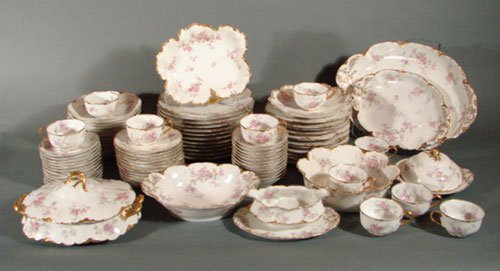 2014: Antique Haviland Limoges Fine Porcelain Dinner Se