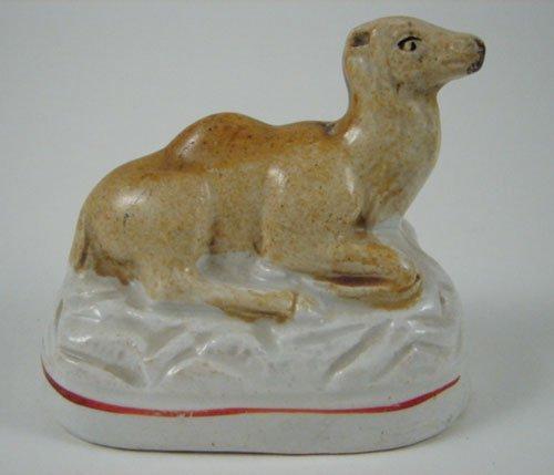 2019: Antique Staffordshire Camel Animal Figure. 19th c