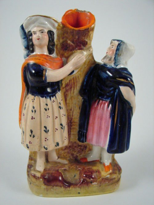2023: Antique English Staffordshire Spill Vase. Minor f