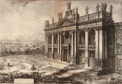 2043 18th c Piranesi Architectural Print titled Ved