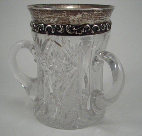 2016: American Brilliant Period Cut Glass Loving Cup wi