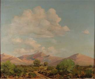 2068: Hurlstone Fairchild Signed Oil Painting Mountains