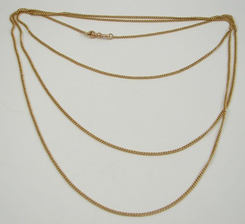 507: 14k Yellow Gold Chain / Necklace with European hal