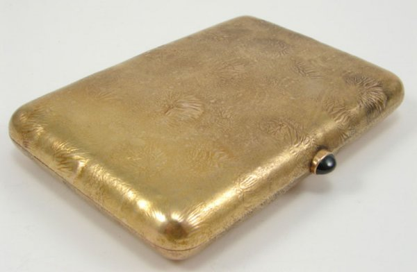 513: 14k Yellow Gold Card Case with European hallmarks