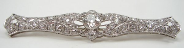 515: Magnificent Diamond & Platinum Edwardian Bar Pin,