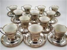 986 12 Gorham Sterling Silver  Lenox Porcelain Demita