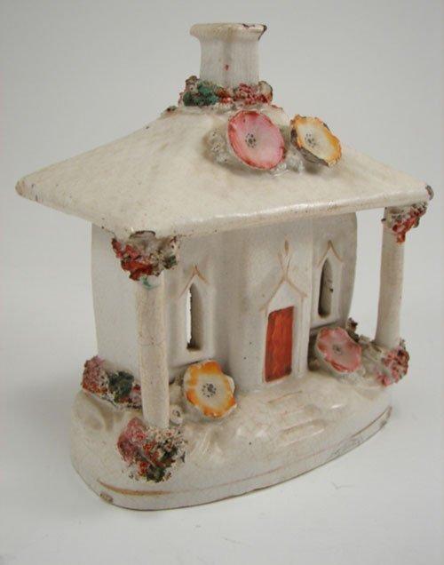 3020: Antique Staffordshire type Figural Incense Burner