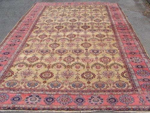3055: Antique Fereghan Sarouk Oriental Estate Carpet. I