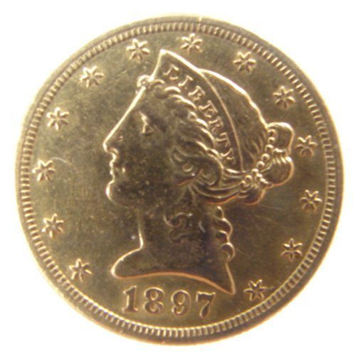 204: $5 US Liberty gold 1895 AU/BU