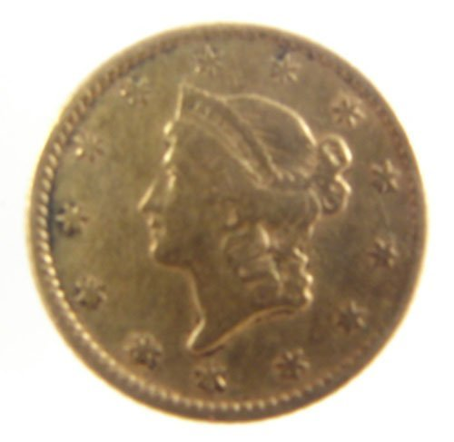 205: $1 US Liberty gold Type I VF+