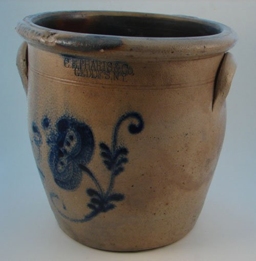 1008: C. E. Pharis & Co Geddes N.Y. Antique 3 Gallon Ov