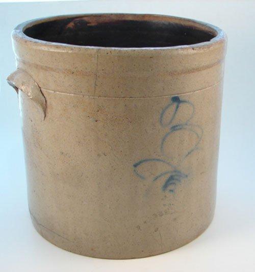 1012: Antique 3 Gallon Stoneware Crock. maker unknown.