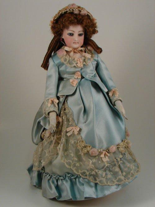 "2004: Antique French 14"" Fashion Lady Doll Poupee"