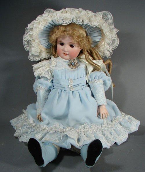 """2006: Antique German C.M. Bergmann BBII Doll. 24"""". Bisq"""